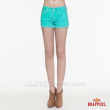 【BRAPPERS】 女款BoyFriendJeans系列-女用彈性條絨熱褲-果綠