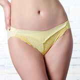【LADY】深線魅力系列 機能調整型 中低腰三角褲(蛋糕黃)