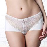 【LADY】伯瑟芬妮系列 中腰平口褲(美型白)