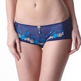【LADY】瑪格麗特系列 低腰平口褲(亮光藍)