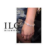 【ILG鑽】鑽石頂級八心八箭 鋯石珠寶切割鑲工鑽石手練 一克拉 奢美氣質款 - BR007 女神 模特兒電人熱銷款 !
