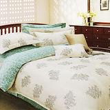 《KOSNEY 綠光愛戀》雙人100%天絲TENCEL四件式兩用被床包組