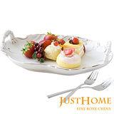 【Just Home】金燦陶瓷端盤(31x23cm)