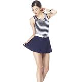 【SARBIS】MIT泡湯SPA大女連身裙泳裝附泳帽B88417