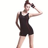 【SARBIS】MIT泡湯SPA大女連身四角泳裝附泳帽B95247