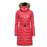 【hilltop山頂鳥】女款蓄熱羽絨長大衣F21F61-蜜紅