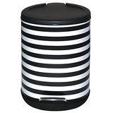 家簡塵除- 黑白條紋腳踏式垃圾桶 (5L)