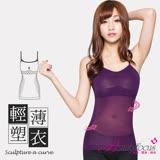 【BeautyFocus】輕機能薄透塑身細肩小可愛-2442深紫色