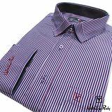 Valentino Rudy范倫鐵諾.路迪-【修身版】長袖襯衫-藍紅白直條