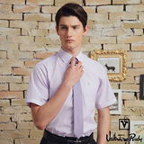 Valentino Rudy范倫鐵諾.路迪-短袖襯衫-紫直條