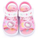 童鞋城堡-Hello Kitty 小童 甜點風嗶嗶涼鞋815713-粉