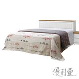 【優利亞-里約鄉村風】雙人5尺床頭箱+三分床底