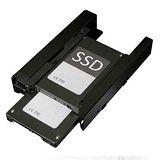 ICY DOCK 雙2.5吋轉單3.5吋硬碟/固態硬碟轉接架-MB082SP