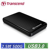 創見 StoreJet 25A3 500GB USB3.0 2.5吋纖薄抗震行動硬碟 (TS500GSJ25A3K)-【送創見外接硬碟包】