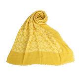 COACH 新款經典大C logo薄披肩圍巾-檸檬黃