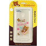 Rilakkuma 拉拉熊/懶懶熊 Asus Zenfone 5 Lite (A502CG) 彩繪透明保護軟套-Fun Fun熊