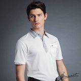 PAUL MAURIAT波爾.瑪亞吸溼排汗短袖POLO衫-白色