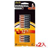 ★2件超值組★金頂金霸王 鹼性電池4號 12+6入/組