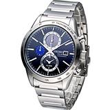 精工 SEIKO SPIRIT 極簡美學太陽能計時腕錶 V172-0AP0L SBPY115J