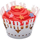 《Sweetly》杯子蛋糕圍邊紙12入(生日)