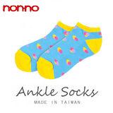 NON-NO 毛巾底珍珠船襪(22~24cm)