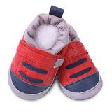 英國 shooshoos 安全無毒真皮手工鞋/學步鞋/嬰兒鞋 紅色海軍藍運動型(公司貨)