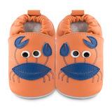 英國 shooshoos 安全無毒真皮手工鞋/學步鞋/嬰兒鞋 螃蟹先生(公司貨)