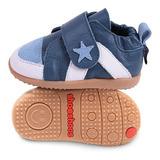 英國 shooshoos安全無毒健康真皮手工鞋/小童鞋 優雅藍白小星星(公司貨)