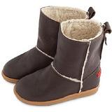 英國 shooshoos 健康無毒真皮手工學步鞋/童鞋 棕色真皮長靴(公司貨)