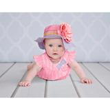 美國Jamie Rae 100%純棉帽 薰衣草遮陽帽+糖果粉玫瑰(JRSHRLG02)