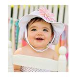 美國Jamie Rae 100%純棉帽 優雅白遮陽帽+淡粉雛菊 (JRSHDW01)