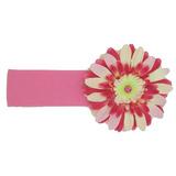 美國Jamie Rae 100%純棉髮帶 糖果粉寬髮帶+粉覆盆子雛菊 (JRHBD03)