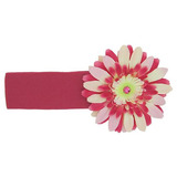 美國Jamie Rae 100%純棉髮帶 覆盆子寬髮帶+粉覆盆子雛菊 (JRHBD05)