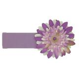 美國Jamie Rae 100%純棉髮帶 薰衣草寬髮帶+薰衣草紫白雛菊 (JRHBD09)