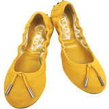 TODS 麂皮豆豆弧形芭蕾舞鞋(36號)(棕色)