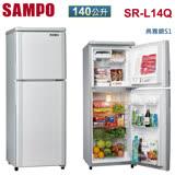 [促銷]SAMPO聲寶 140公升1級節能小冰箱SR-L14Q(S1)(R5)送安裝