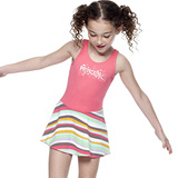 【SAIN SOU】女童連身裙泳裝附泳帽A88421