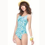 【SAIN SOU】大女連身三角泳裝附泳帽A91401