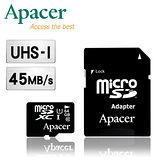 Apacer宇瞻 64GB MicroSDHC UHS-I Class10 記憶卡(附轉卡)-二入組
