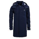【hilltop山頂鳥】男款GoreTex 防水抗UV長版風衣H21M07-丈青