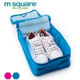 M Square 網格鞋袋 - 藍色