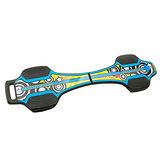 【韓國LANDWAY】發光輪活力蛇板 蛇行滑板 BL 藍黃(贈背帶)