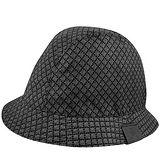 GUCCI 菱格紋Kids系列漁夫帽(L)(黑色)