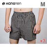 ★3件超值組★HANG TEN 精梳棉定織五片式平口褲M