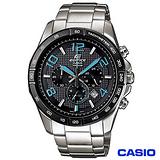 【CASIO卡西歐】EDIFICE藍光三眼時速賽車錶 EFR-516D-1A2