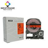 【台灣榮工】EPSON 一般相容標籤帶 LC-2RBP(紅底黑字 6mm)【NEXTPAGE】