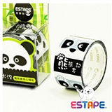 【ESTAPE 易撕貼】PS2537X 直拉式易撕貼 OPP 封黏裝飾貼-貓熊心情黑白貼/創意膠帶/造型膠帶 (熊熊忘記)