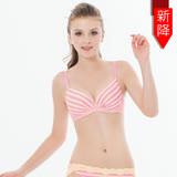 【瑪登瑪朵】15春夏S-Select條紋內衣 B-E罩杯(條紋黃)