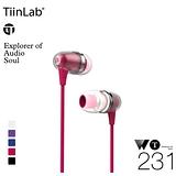 TiinLab 周杰倫 WT231 耳塞式耳機 (桃粉) Whisper of TFAT WT 耳語系列