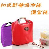 [百貨通]扣式野餐保冷袋(2入) 保鮮袋 便當包